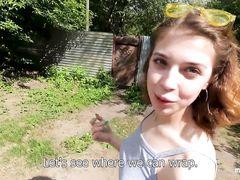 Русская парочка снимает страстный секс в лесу