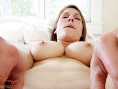 Рыжая мама с большими сиськами занимается сексом от 1 лица со своим сыном