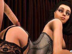 """Элизабет из """"BioShock Infinite"""" отдалась парню с большим членом"""