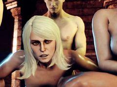 Мультяшные героини эпопеи The Witcher устроили секс оргию