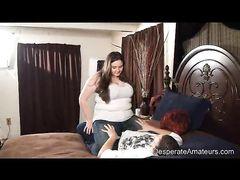 Жопастая толстая девушка занялась сексом на кастинге со своим парнем