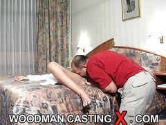 Пьер Вудман долбит в очко участницу приватного анального кастинга